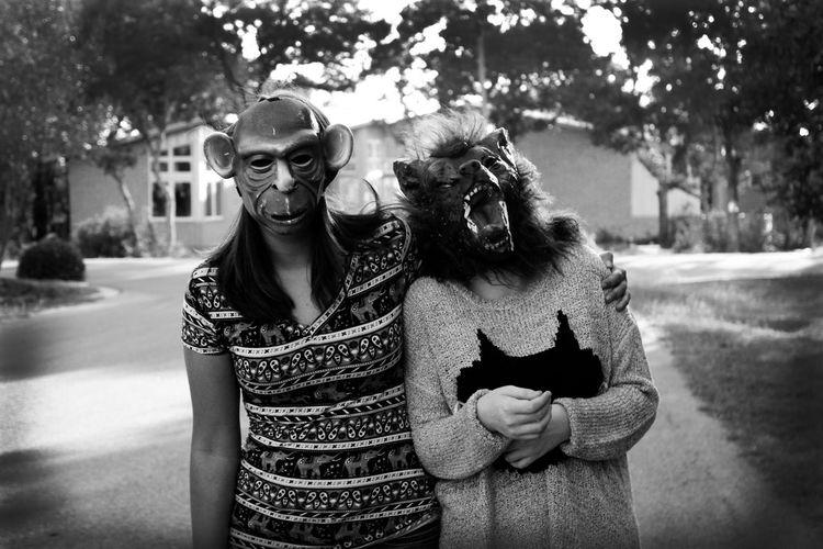 Animal Animal Representation Friends Innocence Mask Perspective Stroll Sunday