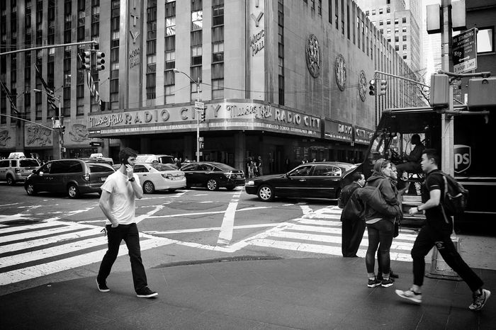 Radio City Music Hall Black And White Streetphotography NYC People