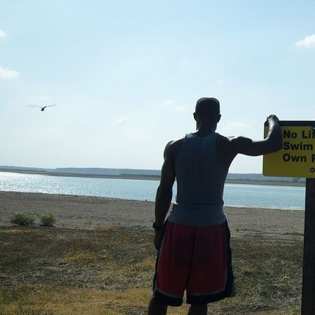 Surprised to find a dragon fly photo bombed me. Photobombed Lake Clearskies Selfshot Signs