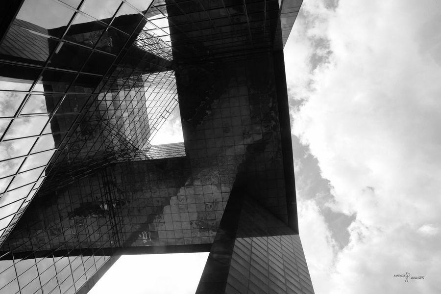 Architecture Built Structure Low Angle View Building Exterior Skyscraper Day Sky Window No People Modern Outdoors City Summer Nikonphotography Nikon London London Lifestyle Postcode Postcards Nikontop Arts Culture And Entertainment Monument Cloud - Sky Black & White B&w B&w Street Photography The Graphic City The Architect - 2018 EyeEm Awards