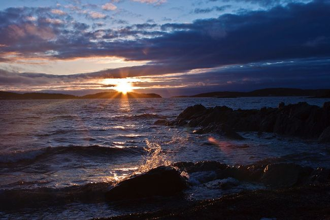 Sundown Sea And Sky Landscape_Collection Water Sunset Colors Enjoying Life Wave Beach Rocks Sun Clouds And Sky Landscape Sea Seaside Coastline Canada Market Light Color Peace Feel The Journey