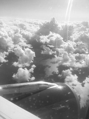 Airplane Transportation Journey Sky Mode Of Transport Cloud - Sky Travel Jet Engine Flying