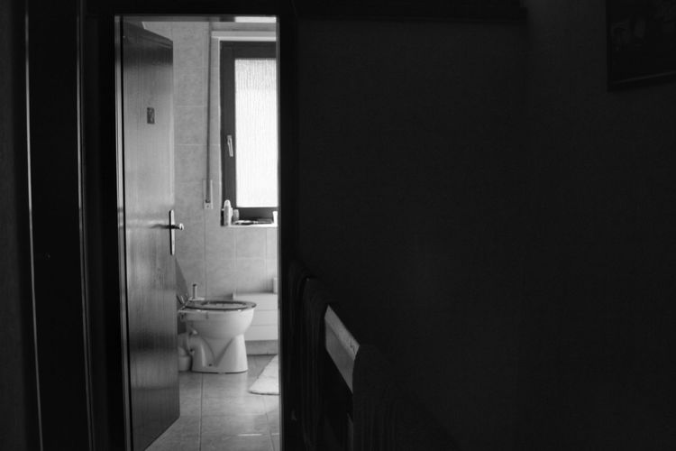Door Indoors  No People Bathroom Toilet Bowl Day Flushing Toilet Architecture Monochrome Photography Creative Light And Shadow Blackandwhite Photography