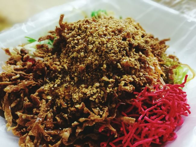 Famous Yee Sang Malaysia Yeesang food Freshness Food And Drink Close-up No People Healthy Eating Indoors  Ready-to-eat Day