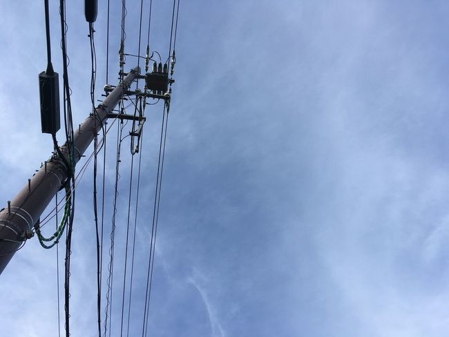 Electric Lines Blue Sky No Edit/no Filter Quiet Moments The Scenery That Tom Saw Tomの見た世界 Japan IPhoneography