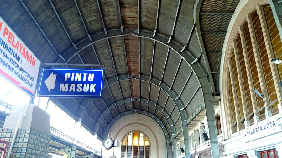 Train Station Interior Design Ceiling Jakarta Indonesia Heritage Building Architecture