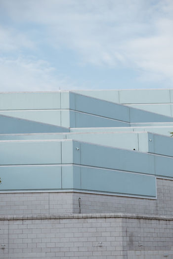 Abstract Architecture Blue Building Exterior Built Structure Fujifilm Layer Low Angle View Modern No People Pallette Sky
