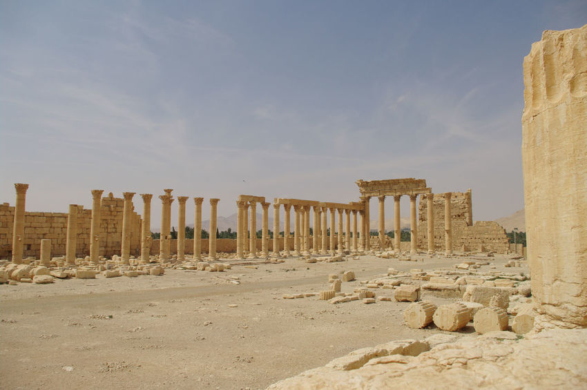 Palmyra Ruins Peace Syria  Ancient Ancient Civilization Archaeology Architectural Column Architecture Built Structure Day History Nature No People Old Ruin Outdoors Palmyra Sand Sky Sunlight The Past Tourism Travel Destinations