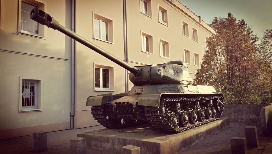 Architecture Building Exterior Sky Built Structure Historic Civilization Cannon Armored Tank War Weapon Military History Museum