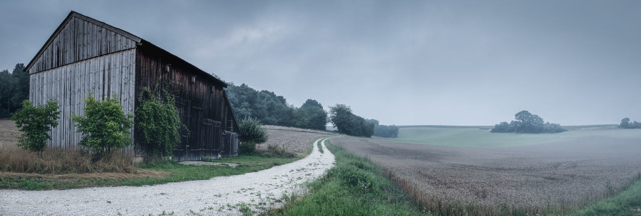A rainy morning somewhere in a remote landstrip in Bavaria, Germany EyeEmNewHere Mystical Loneliness Foggy Weather Hiking Moody Sky Panoramic View Rainy Days Remote Location Rural Scenes Foggy Morning Hiking Trail Landscape No People Outdoors Panoramic Panoramic Landscape Rural Landscape The Way Forward Tranquil Scene