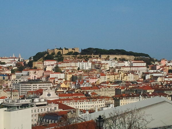 Castle View  Castelodesaojorge Castle Lisboa Lisbon Residential District Residential Structure Cityview Cityscapes City Capital Capital Cities  Castel Old Castle Seeing The Sights