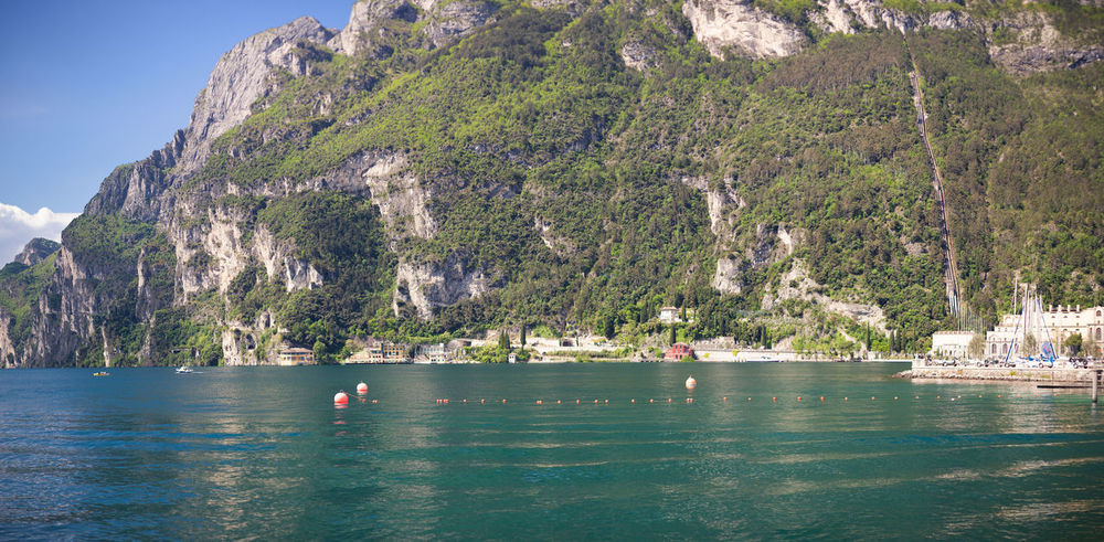 Lake Garda near the town of Riva del Garda Italy Lake Lake Garda Riva Del Garda Tranquil Scene Travel Destinations Trentino  Water Waterfront