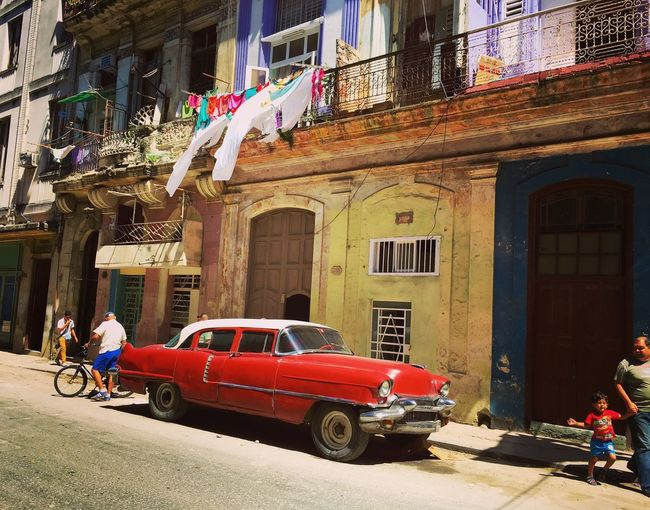 There is just something about these wondrous bright, shiny old cars made in the early 50's that still run today! Old Car Oldtimer Red Street Photography Streetphotography Urbanphotography Urban Lifestyle Eye4photography  Cuba Havana EyeEm Gallery Taking Photos Travel Photography City Life Cityscape