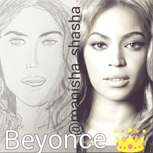 Sketched the queen b ...tell how close does it look.... Beyonce Queen Like Follow Amateursketcher Sketch Love