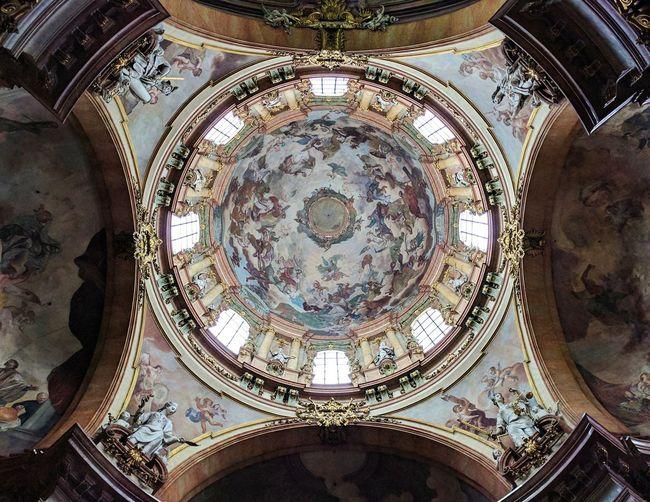 Prague St. Nicolas Church Architectural Design Indoors  Ceiling Architecture
