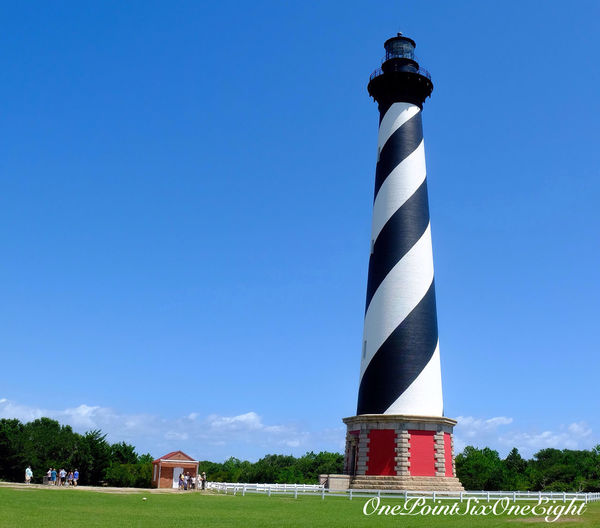 Hatteras lighthouse on Outer Bank motorcycle road trip August 2015 Outer Banks, NC Road trip