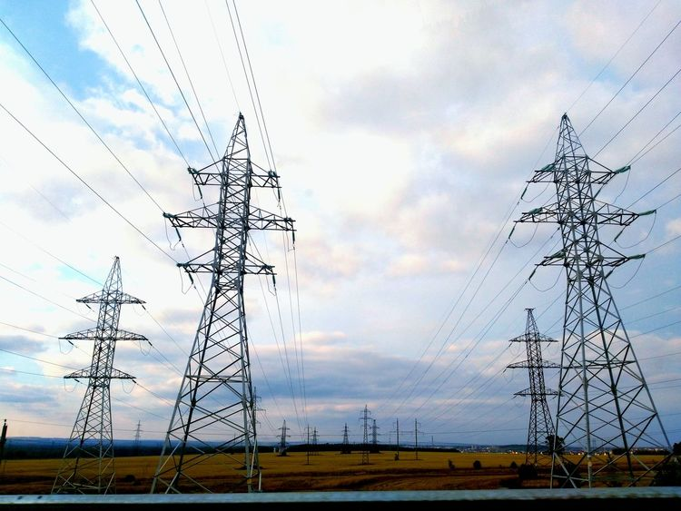 Electricity Pylon Fuel And Power Generation Electricity  Technology Power Line  Sky Landscape Electricity Tower Cable Tower Connection City Life Photography World Russia Kazan Color Of Life Walking Tall - High Power Supply Low Angle View Day Field Bare Tree Cloud