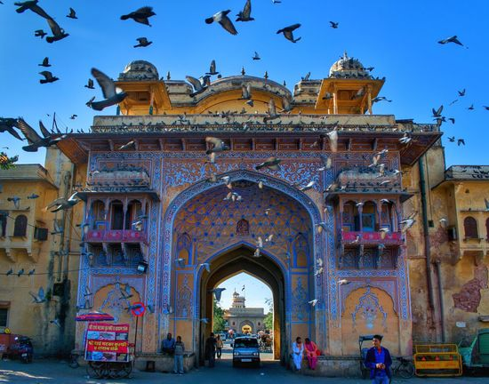 the royal Jaipur Imnikon NikonAsia Jaipur India Rajasthan Royal Palace Colors Architecture Arch History Sky Travel Destinations Built Structure Building Exterior Multi Colored Outdoors Cityscape City Day