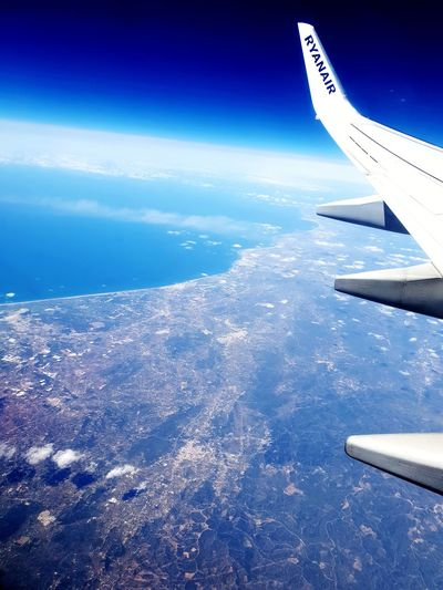 over Spanish coast Eye4photography  EyeEm Space Air Vehicle Technology Plane Satellite View Scenics Moving Tranquil Scene Commercial Airplane