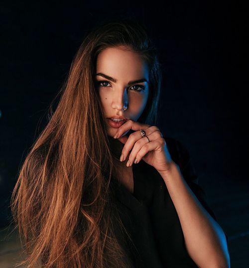 Beauty Studio Shot Beautiful People Portrait Black Background Beautiful Girl Russian Girl Nikon DmitryBarykin