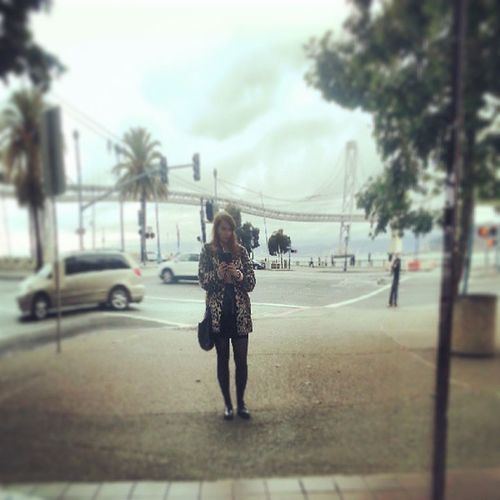 The kingdom of crooked mirrors Embarcadero YMC Leopard Sfstyle sanfrancisco selfie palms california leather urban