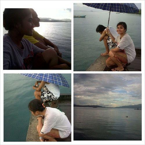 Mancing G jelas @Dermaga sore Pulau Saparua Maluku  Sahusilawane Brothers Sea Laut Mancing kangen