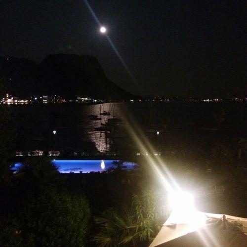 Moonlight Pool Lake Night
