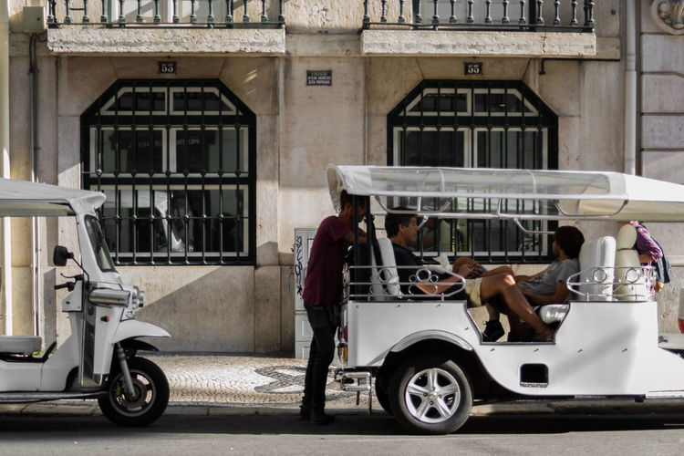 Transportation Mode Of Transport Architecture Outdoors Men People City Lisbon