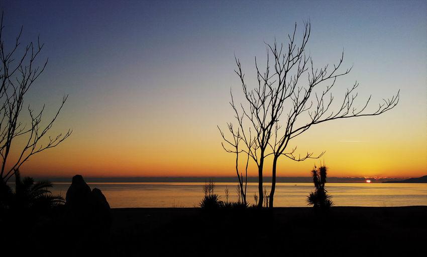 #EyeEmEsterlinda #italy Beauty In Nature Nature Non-urban Scene Orange Color Scenics Sea Silhouette Sun Sunset Tranquil Scene Tranquility Vacations