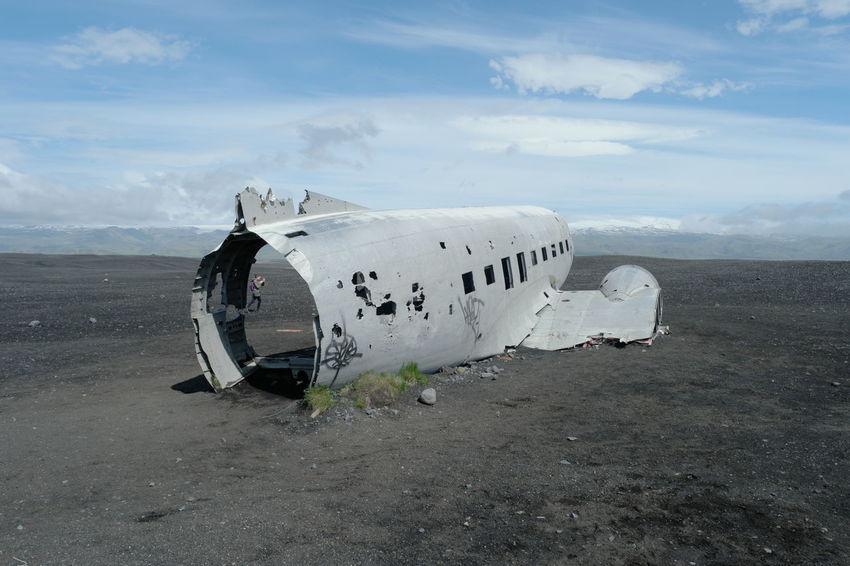 Sólheimasandur super dc3 Douglas R4D-8 Aircraft crash Aircraft Blue Sky Crash Crashed DC3 Douglas R4D-8 Iceland No People Plant Samsung Nx500 Skogar Southern Super Dc3 Sólheimasandur Sólheimasandur Plane Wreck Vik Wide Angle Wide Shot Wreck