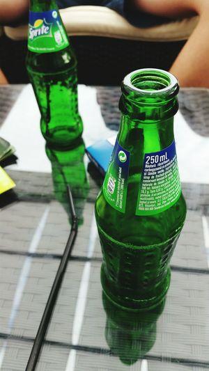 Drinking Sprite Refreshing