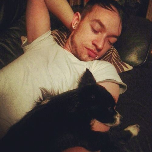 Cutest couple Boyfriend Doggy Instadog Cute Chihuahua Cutecouple Snuggle Sleepy Sweet Love