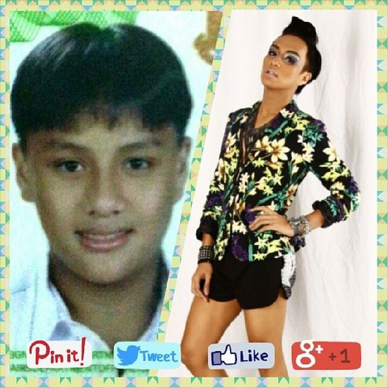 Before & after. TBT  7years Ohhello Puberty werq brave