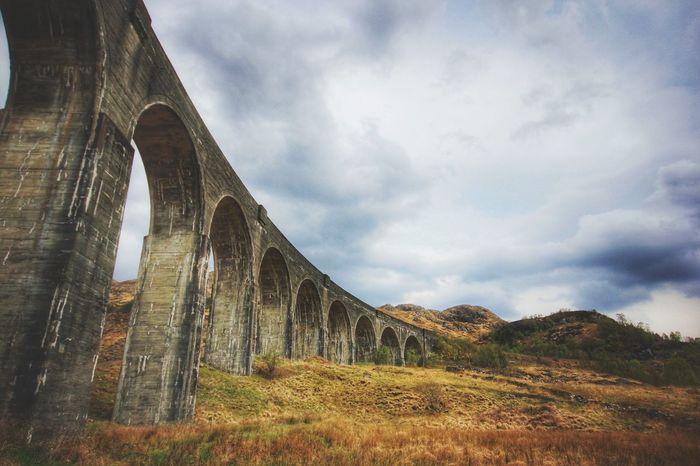 The beautiful Glenfinnan Viaduct at the top of Loch Sheil. Viaduct Harrypotter Hogwarts Express Lochschiel Glenfinnan Viaduct Photographic Architecture Railway Railwaybridge Steam Train