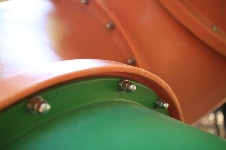 Bolt Bolt And Nut Close-up Day Fittings Gland Green Color No People Nut Orange Color Outdoors Pipe Tube