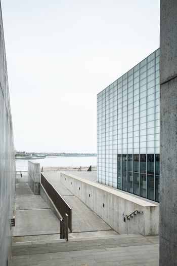 The Turner Contemporary Art Gallery, Margate, Kent, UK Architecture Built Structure Sky Day Building Exterior No People Water Outdoors Window Modern Glass - Material Copy Space Building Turner Contemporary Art Gallery Art Margate Seafront Turner Gallery Grey Gray Concrete