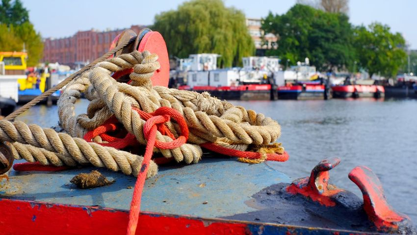 Rummelsburger Bucht Boat Cleat Commercial Dock Day Focus On Foreground Harbor Mooring Post Nautical Vessel Outdoors Pier Rope Strength Tied Knot Tied Up Transportation Water