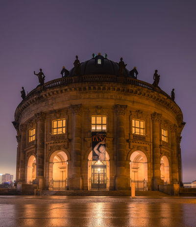 Bode-Museum, Museumsinsel Berlin Architecture Berlin Berlin Photography Building Exterior Built Structure City City Gate Historical Building Illuminated Museum Museum Island Museumsinsel Night No People Outdoors Sky