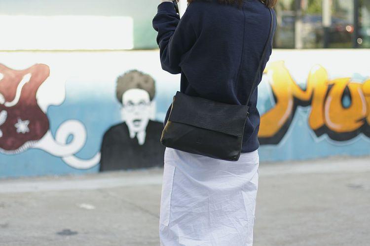 Grafitti Wall Art, Drawing, Creativity Creative Arts  White Black Fashionstyle Bag