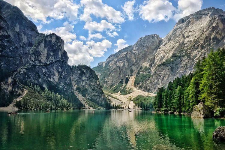 Dolomites lake.