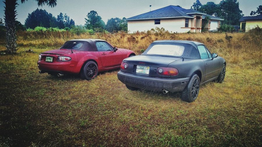 Car Land Vehicle Stationary Outdoors No People Day MX-5 Mx5 Miata Red Mazda Rear