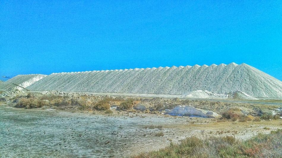 Mountains of salt. Natural Park of the Salinas of Santa Pola, Alicante Landscape Taking Photos Hdr_Collection HDR