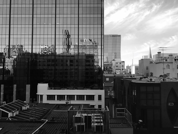Light And Reflection   View From The Window...   Black And White