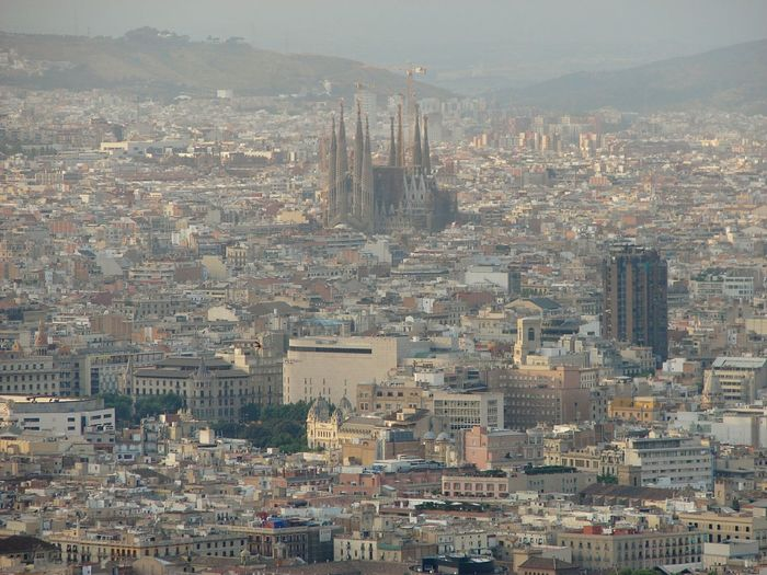 Sagrada Familia Barcelona View From The Top View City