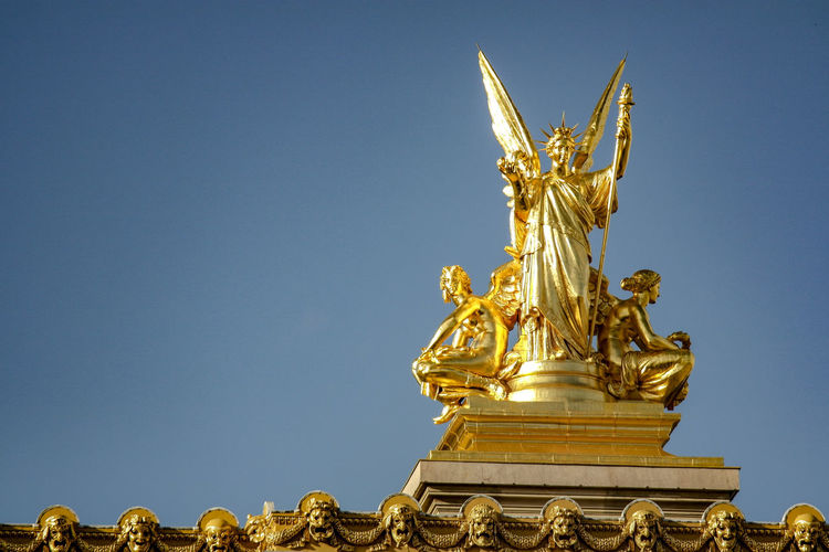 Low angle view of angel statue
