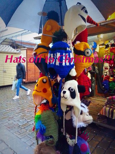 MerryChristmas Happy Christmas Hats To Be For My Friends That Connect Challenges Outdoors Off The Wall Winter_collection Streetphotography Christmasmarket