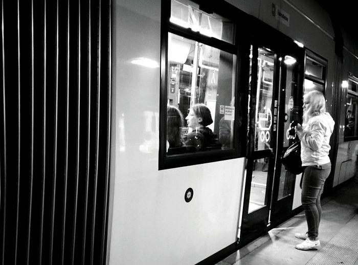 Day 282 - Taking the tram Berlin Blackandwhite Public Transportation Tram Streetphotography Streetphoto_bw 365project 365florianmski Day282