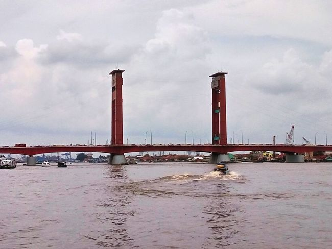 Ampera Bridge, Palembang, Indonesia Water Sea Sky Built Structure Architecture No People Building Exterior Landscape Finding New Frontiers The Street Photographer - 2017 EyeEm Awards Live For The Story The Photojournalist - 2017 EyeEm Awards EyeEmNewHere Stories From The City