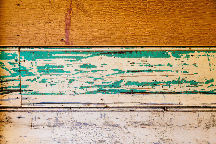 Abstract Architecture Backgrounds Close-up Cracked Damaged Day Dirty Green Color No People Old Old-fashioned Outdoors Panel Pattern Run-down Texture Textured  Timber Weatherboards Weathered Weathered Wood Wood - Material Yellow