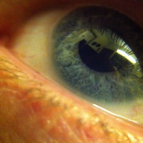My dad's Eye. Blue Eyes